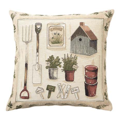 Gardening Tapestry Cushion Cover