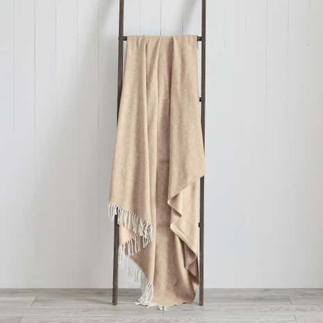 Plain Wool Effect Throw