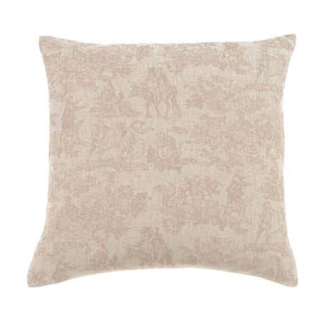 Natural Rustic Toile Cushion