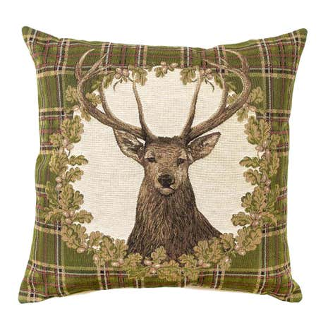 Stag Tartan Tapestry Cushion Cover