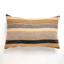 Striped Ochre Cushion