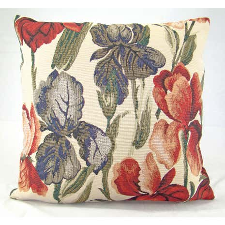Multi-Coloured Traditional Tulip Cushion Cover