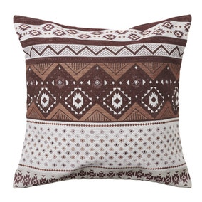 Terracotta Tribal Tapestry Cushion