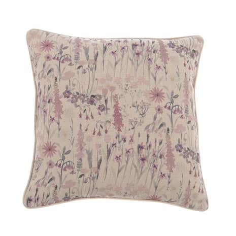 Mauve Watercolour Meadow Cushion