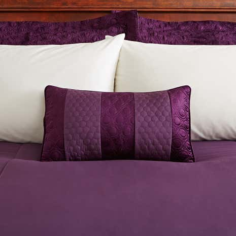 Adalene Plum Boudoir Cushion