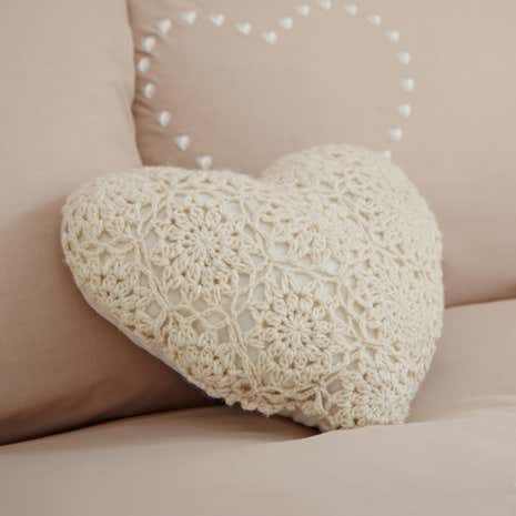 Betsy Cream Crochet Cushion