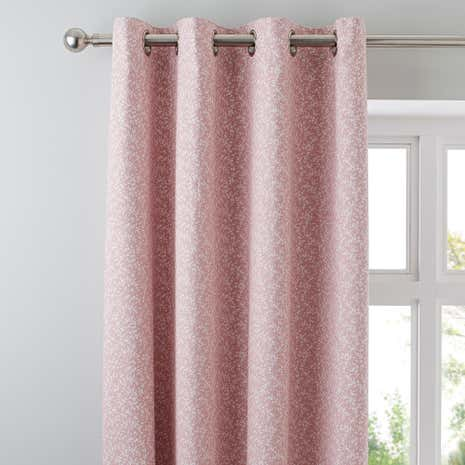 annie pink thermal eyelet curtains dunelm. Black Bedroom Furniture Sets. Home Design Ideas