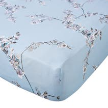 Beautiful Birds Duck Egg Fitted Sheet