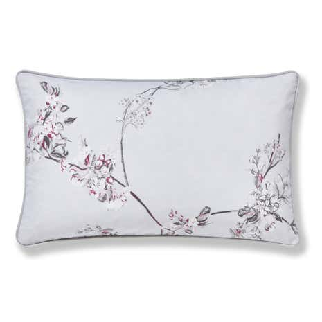 Beautiful Birds Grey Boudoir Cushion