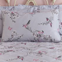 Beautiful Birds Grey Housewife Pillowcase