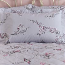 Beautiful Birds Grey Oxford Pillowcase