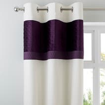 Adalene Plum Thermal Eyelet Curtains