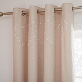 Betsy Natural Thermal Eyelet Curtains
