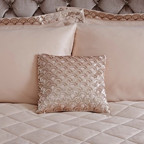 Charleston Champagne Square Cushion