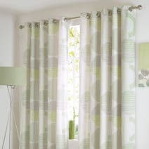 Charlie Green Thermal Eyelet Curtains