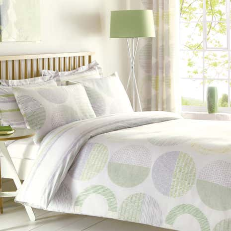 Charlie Green Duvet Cover and Pillowcase Set