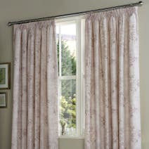 Cherub Pink Thermal Pencil Pleat Curtains