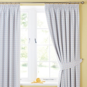 Circus Blackout Pencil Pleat Curtains