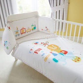 Circus Nursery Coverlet and Bumper