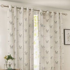 Darwin Blue Thermal Eyelet Curtains