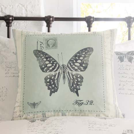 Darwin Blue Square Cushion
