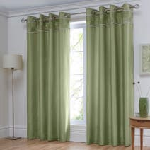 Dexter Green Thermal Eyelet Curtains