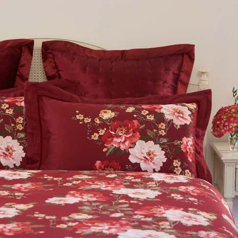 Dorma Charlotte Red Oxford Pillowcase