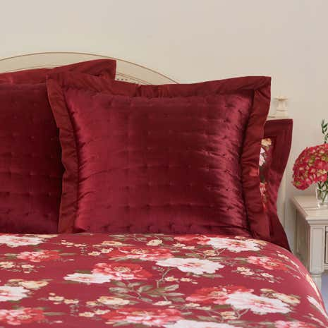 Dorma Charlotte Red Pillow Sham