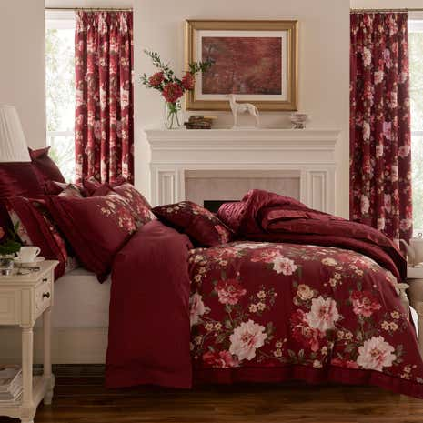 Dorma Charlotte Red Duvet Cover