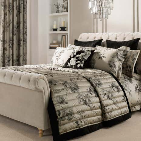 Dorma Harriet Charcoal Bedspread