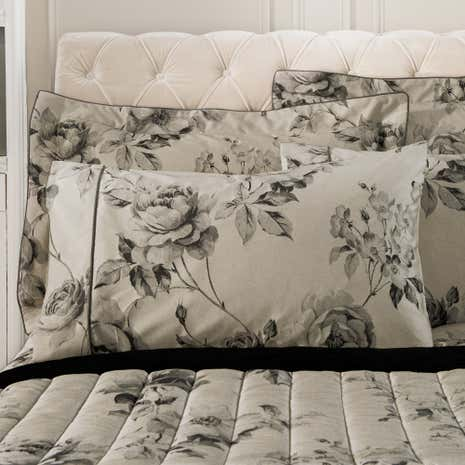 Dorma Harriet Charcoal Cuffed Pillowcase