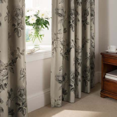 Dorma Harriet Charcoal Pencil Pleat Curtains