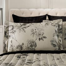 Dorma Harriet Charcoal Oxford Pillowcase