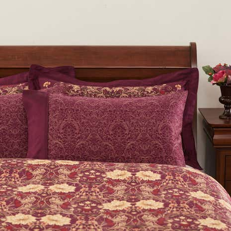 Dorma Victoria Plum Cuffed Pillowcase