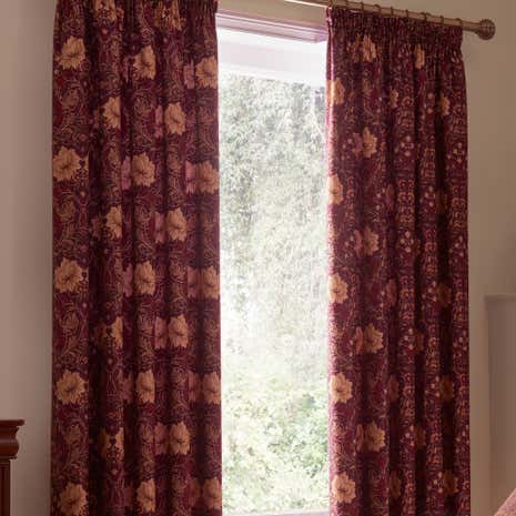 Dorma Victoria Plum Pencil Pleat Curtains