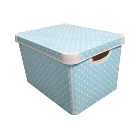 Duck-Egg Polka Dot Storage Box