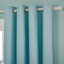 Matilda Duck Egg Blackout Eyelet Curtains