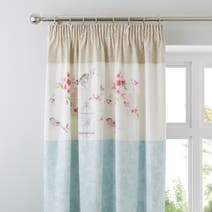 Evelyn Duck Egg Thermal Pencil Pleat Curtains