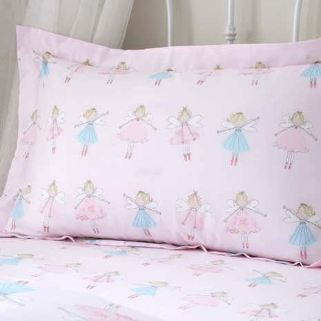 Fairies Pink Oxford Pillowcase