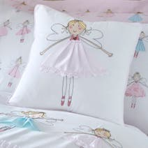 Fairies Pink Square Cushion
