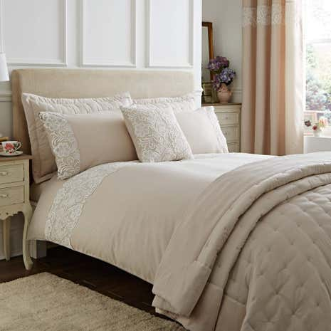 Florence Natural Duvet Cover