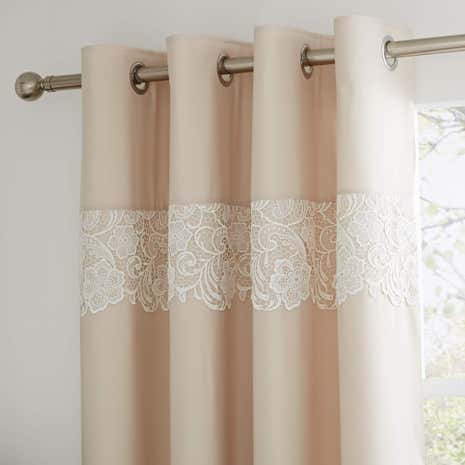 Florence Natural Thermal Eyelet Curtains