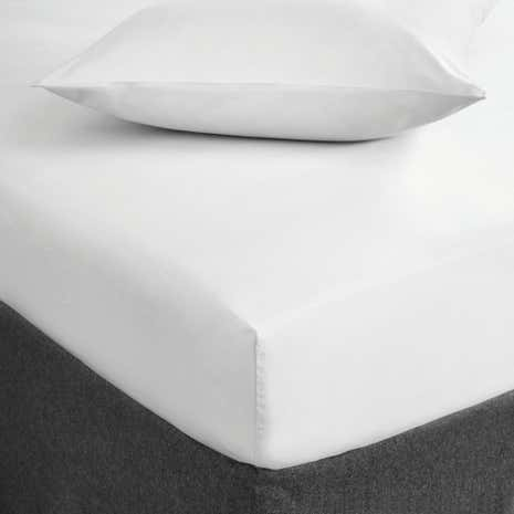 Fogarty Soft Touch White 32cm Fitted Sheet