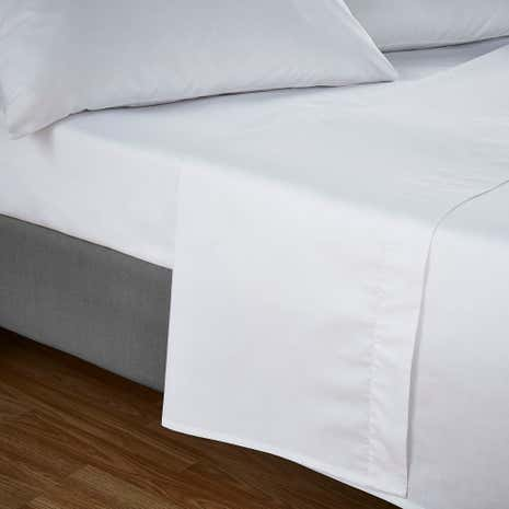 Fogarty Soft Touch White Flat Sheet