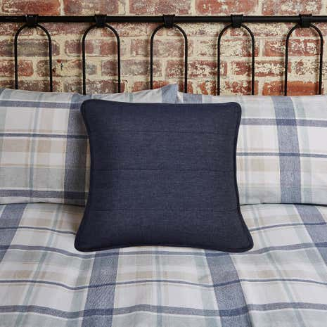 Harrison Blue Square Cushion