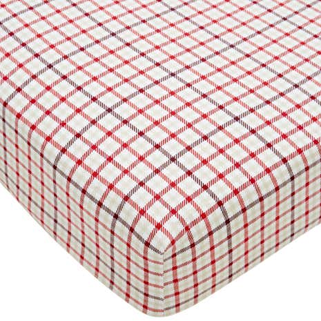 Hartford Red 28cm Fitted Sheet