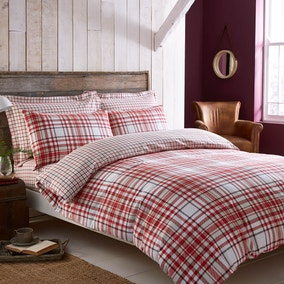 Hartford Red Duvet Cover Set