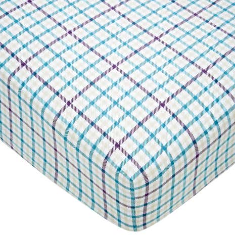 Hartford 100% Cotton Teal Fitted Sheet