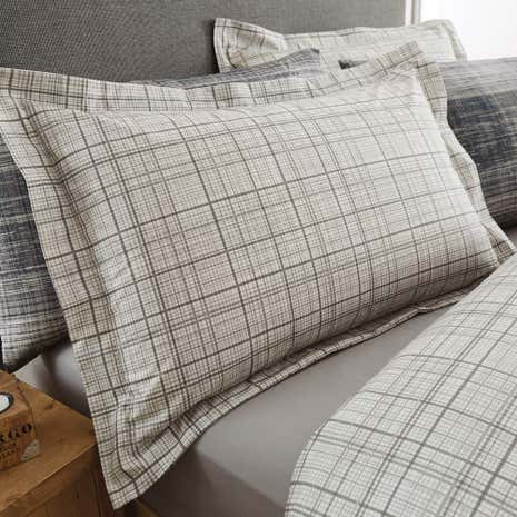 Harvey Charcoal Oxford Pillowcase