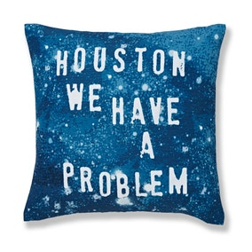 Houston We Have A Problem Navy Cushion